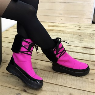 PEMBE RENK KAR BOTU SNOW BOOT WINTER WOMAN SHOES SHOE-001